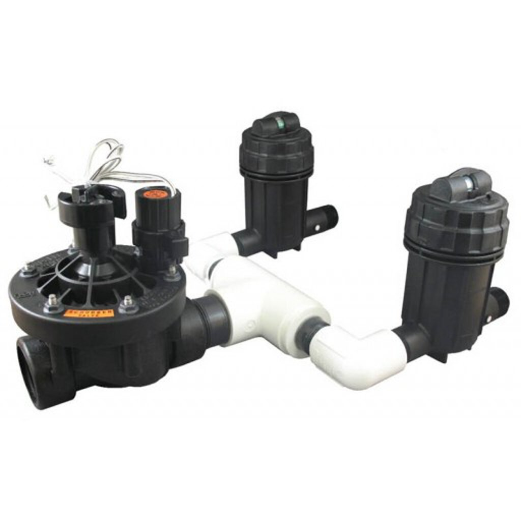 Rainbird Commercial Control Zone with PESB Valve and 2 Pressure Regulating Basket Filters, 1.5''/40 psi
