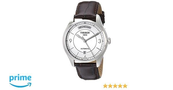 Amazon.com: Tissot Mens T0384301603700 T-One Analog Display Swiss Quartz Brown Watch: Tissot: Watches