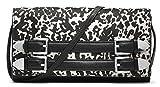 MICHAEL Michael Kors Robin White & Black Print Haircalf Leather Clutch Crossbody Bag