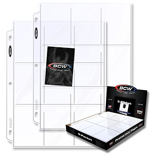 400 BCW PRO9T 9 Pocket Binder Pages by BCW