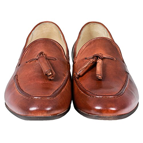 Hudson pierre loafer pompon Marron