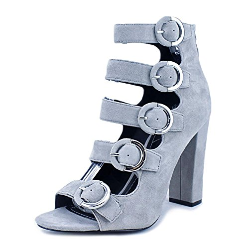 KENDALL + KYLIE Women's Evie Dress Sandal Smokey Grey Suede fake for sale online latest sale online zUvhwve9J