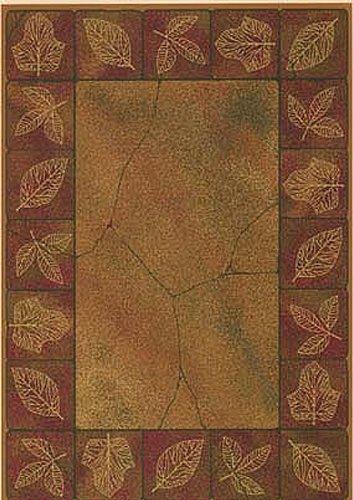United Weavers Genesis Area Rug 130-20934 Sephora Gold Floral Leaves 1' 10