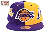 Mitchell & Ness Los Angeles Lakers Split Snapback Hat
