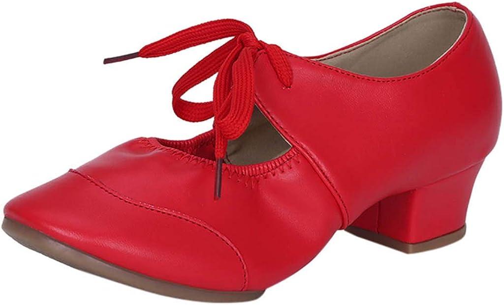 HENWERD Womens Tango Ballroom Latin Ballet Salsa Waltz Modern Square Dance Singles Shoes