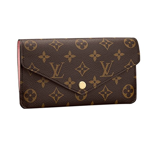 Louis Vuitton Monogram Canvas Jeanne Wallet M62203 Rose Balleria Made in France