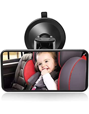 f8512759f SunTop Bebé Espejo Retrovisor, Universal de Coche Asiento Trasero Vista  Espejo Monitor de Coches de