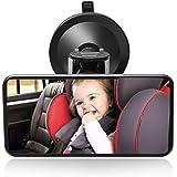 SunTop Specchio auto Bambino Baby Bambino Vista posteriore Specchio, specchietto retrovisore bambino,Specchio per Auto sedile posteriore specchio