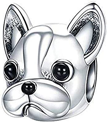 The Kiss Pet Lover French Bulldog Puppy 925 Sterling Silver Ring
