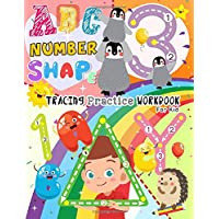 ABC Number and Shape Tracing Practice Workbook For Kid: Children's Activity Coloring Books for Toddlers , Kids , Pre K and Kindergarten 8.5x11 110 Pages