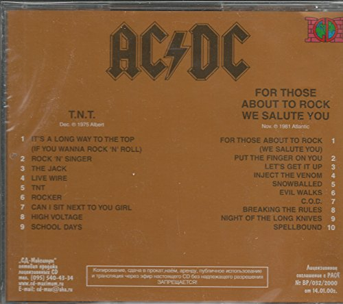 AC/DC - TNT / for Those About to Rock (We Salute You) - Amazon.com Music