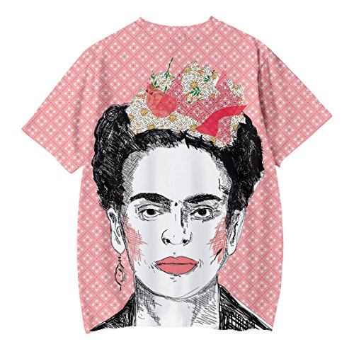 Style Q1022 Modern Giovani Vintage Uomo Shirt 3D Artist Shirt per Stampa Cool Kahlo T Poster T Donna Tee Summer Rockabilly Messicana Unisex Frida SIMYJOY Streetwear qZ7gO1S
