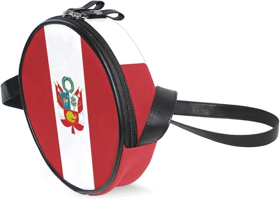 CHLBOJ Brazil Flag Women Round Bag Crossbody Circle Purse Canvas Bag