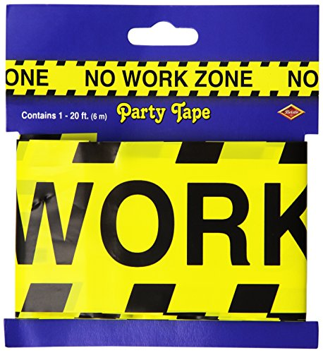 No Work Zone Party Tape Party Accessory (1 count) (1/Pkg) (Party Decorations Retirement)