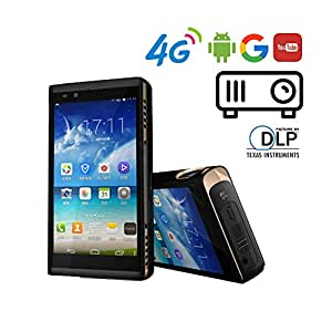 """P19 Android 4.4 Smart-phone with Built-in Projector 5.5"""" Screen  RAM 2GB ROM 16GB, 4G LTE/TD-SCDMA/GSM, 13.0MP + 5.0MP Camera  DLP Home Theatre 150 ANSI Lumen 1080P"""