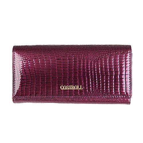 Color Real fold Lovely Stylish Black Women's Bag Phone Purple rabbit Clutch Leather Cell Luxury Tri Purse 0twBqtOf