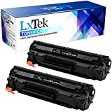 LxTek Compatible Toner Cartridge Replacement Set For HP CE285A 85A (2 Black) For use in HP LaserJet Pro P1102 P1102w P1109w M1217nfw M1212nf M1132 M1214nfh Printer