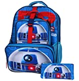 Star Wars Boys' Big R2d2 16' Backpack, Lunch Tote, Pencil Case, Blue, 16 Inches