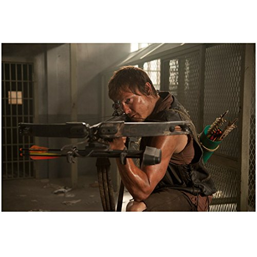 Cell Saints (Norman Reedus in The Walking Dead as Daryl Dixon with Bow and Arrow in Jail Cell 8 x 10 Inch Photo)
