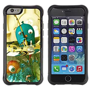 Hypernova Defender Series TPU protection Cas Case Coque pour Apple Iphone 6 [Blue Fish Bowl]