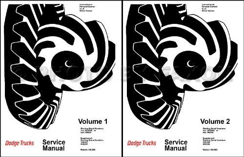 1969-1971 Dodge 100-800 Pickup Truck Repair Shop Manual Reprint 2 Vol. Set