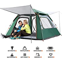 CHANODUG 2-4 Person Automatic Family Camping Tent 3-4...