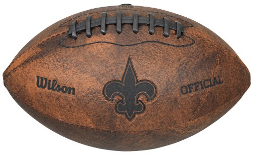 NFL New Orleans Saints Vintage Throwback Football, 9-Inches