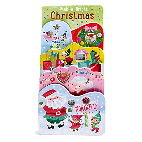 Peek-A-Bright Christmas (Tall Tiered Board Book) (Of Christmas Tall The Book)