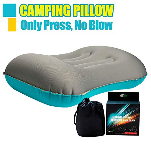 SEEKLATEST Inflatable Camping Pillow - Compressible, Compact, Comfortable, Ergonomic Pillow for Neck & Lumbar Support and a Good Night Sleep While Camp, Backpacking