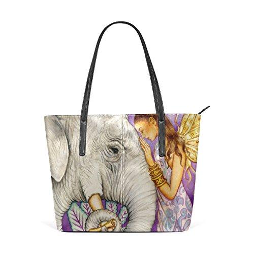 5d3cfbb2bbe57 COOSUN Elefant Kunst PU Leder Schultertasche Handtasche und Handtaschen  Tasche für Frauen