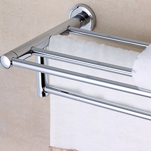 HOMEE Full Copper Towel Bar Set Hanging Bathroom Bathroom Shelf