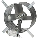 Strongway 14in. Gable Exhaust Fan - 1/8 HP, 1600 CFM, with Thermostat and Humidistat, for 2500 Sq. Ft. Attic