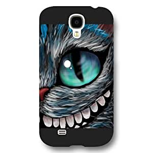 UniqueBox Customized Black Frosted Samsung Galaxy S4 Case, Alice in Wonderland We're all mad here Cheshire Cat Smile Face Samsung S4 case, Only fit Samsung Galaxy S4