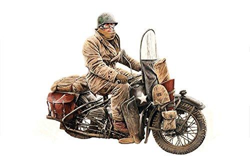 MiniArt Models 1/35 U.S. Motorcycle WLA with Rider Model Kit