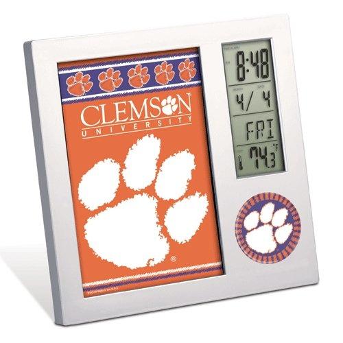 WinCraft NCAA Clemson University Desk Clock, Black