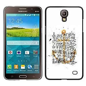 Be-Star Único Patrón Plástico Duro Fundas Cover Cubre Hard Case Cover Para Samsung Galaxy Mega 2 ( Anchor Yellow Gold White Text Black )