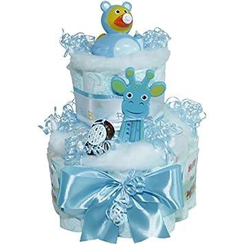 ★ Windeltorte EnteBaby Boy ★ Geschenk zur Geburt Babyparty Taufe Badeente