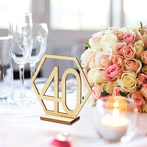 - Table Numbers 21-40 for Wedding or Restaurants with Base 20Pack, Wooden Seat Number Table Desk Names Holders Cards Stands for Birthday Party Hotel Business Reception Wedding Decoration (21-40 Numbers)
