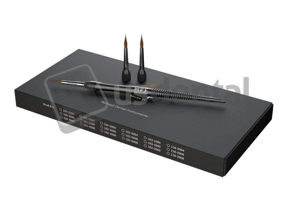 MPF Revolution Brush KIT Same 3 Tips Size 8 SEA Blue 200-3008 400092 Us Dental Depot
