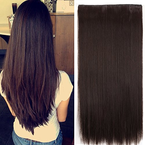 G Thick Straight Curly Wavy One Piece Clip in Hair Extensions Any Color 5 Clips Natural Hairpiece(23