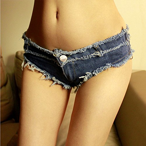 Zhhlinyuan Fashion Casual Ladies Ripped Slim Fit Performance Jean Shorts Alta calidad for Women Blue