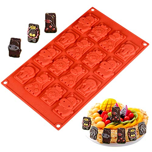 - Palksky Animal Silicone Mold - Animal Jungle World Chocolate Mold Candy/Cookie/Cake/Gummy/Jello/Baking/Cupcake Topper Fondant Decoration