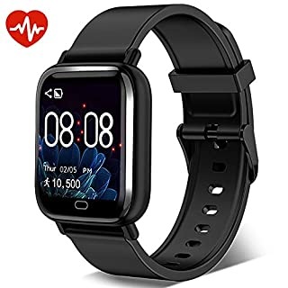 Smart Watch,Fitness Tracker Watch with Heart Rate Monitor Message&Call Sync Reminder Waterproof Sport Pedometer Activity Trackers Smartwatch for Men Women Kids Compatible iOS Android Phone