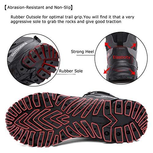 ziitop Chaussures de Randonnée Homme Bottes Tactiques pour Hommes Chaussures de randonnée et de Trekking à Taille Haute… 4