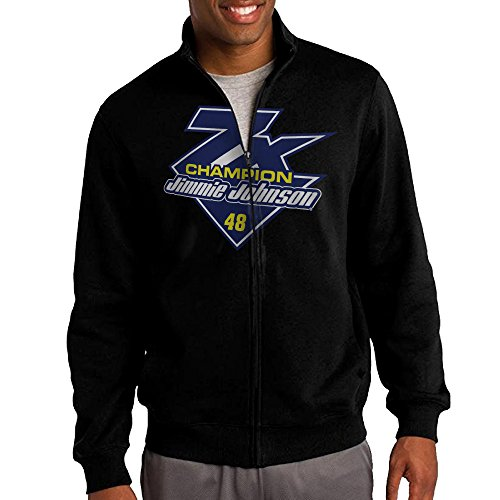 Mens Jimmie Johnson Fanatics Branded Black 2016 Sprint Cup Champion 7-Time Champion Zipper Jacket Hoodie Sweatshirt from IFJGU547