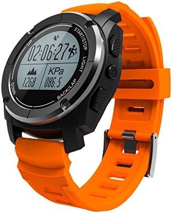SnowX Reloj Inteligente Bluetooth Reloj Deportivo con altímetro/barómetro/termómetro y GPS Incorporado, rastreador de Fitness para Natación, Snorkeling, Juegos de Pelota, Caminar, Correr, Escalar