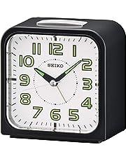 ساعة مكتبية من سيكو، انالوج، لون اسود - موديل QHK025JL