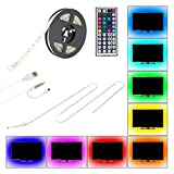Bias Lighting for HDTV,LIBERLUC USB LED Backlight Strip,RGB TV Backlight LED with 44key Remote Control for TV Desktop Monitors Home Theater PC,Background Lighting,Waterproof IP65