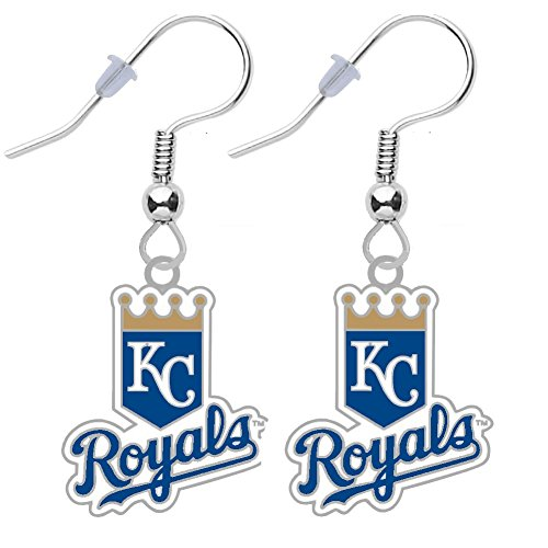 (Final Touch Gifts Kansas City Royals Shield Earrings Pierced )
