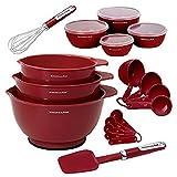 Kitchen Aid 11-pc Baking Set Red